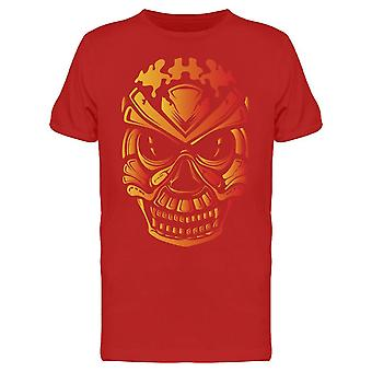 Crâne rouge/jaune Tee Men-apos;s -Image par Shutterstock
