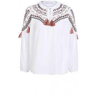 Oui Embroidered Detailed Blouse