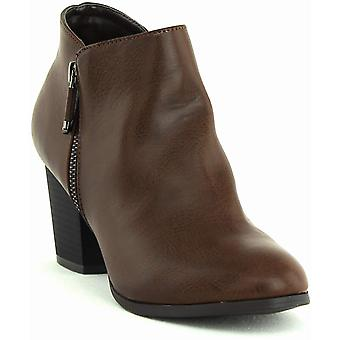 Style et Cie. Masrina Ankle Booties - France Chocolat