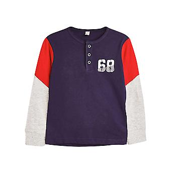 Esprit Boys' Long Sleeve Jersey T-Shirt con numero stampa
