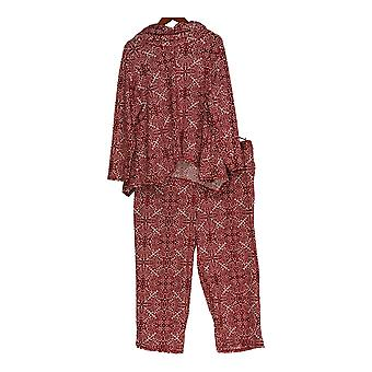 Carole Hochman Women's Petite Pajama Set w/ Top and Bottoms Red A311259