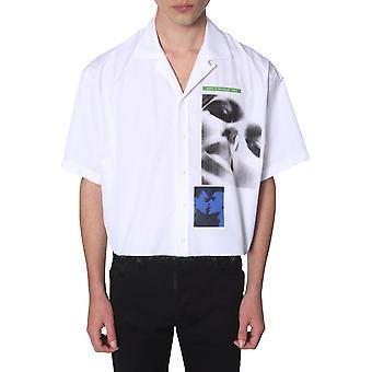 Dsquared2 S78dm0003s36275100 Miesten's Valkoinen Puuvilla paita