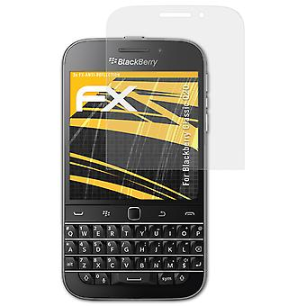 atFoliX Glass Protector compatible with Blackberry Classic Q20 Glass Protective Film 9H Hybrid-Glass