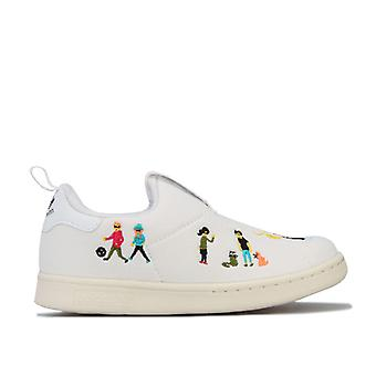 Gutt&aps adidas Originals Spedbarn Stan Smith 360 Trenere i Hvitt
