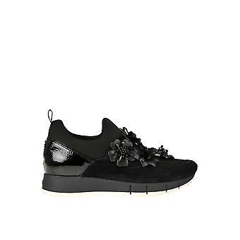 Liu Jo Ezgl060071 Women's Black Fabric Sneakers