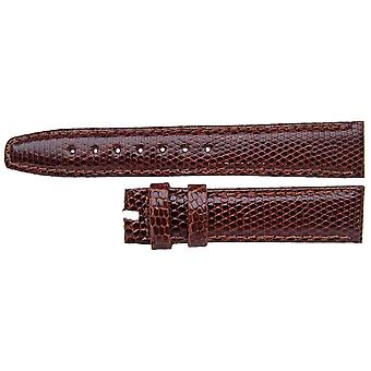 Authentic omega watch strap 18mm brown lizard