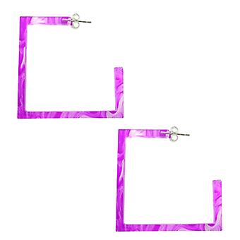 32mm UV React Square Ear Hoop Expander SUL2006AM