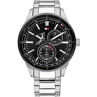 Tommy Hilfiger Watches 1791639 Men's Black And Silver Steel Watch