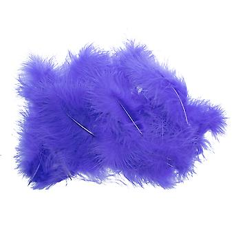 20 Purple Premium Marabou Feathers for Crafts