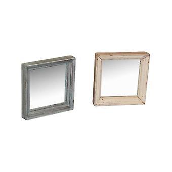 مرآة خشبية مربعة