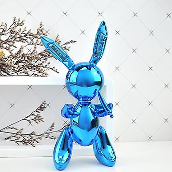 Nordic Style Cute Rabbit Animals Resin Balloon Rabbit Sculpture