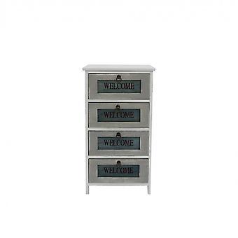 Rebecca Meble Szuflada Settimino 4 Białe szuflady z drewna Retro 73x40x29