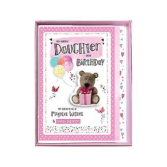 ICG Ltd To A Wonderful Daughter On Her Birthday Boxed Large Bear With Present Card