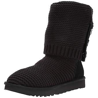 Ugg Australia Women's Shoes Purl Cardy Knit Fabric Closed Toe Mid-Calf Cold W...