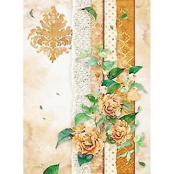 Rice Paper A4 Flowers For You Ocher (DFSA4416)