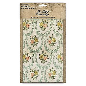 Idea-ology Tim Holtz Purtat Wallpaper 5x8 Inch Sheets