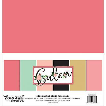 Echo Park Salon 12x12 Inch Coordinating Solids Paper Pack