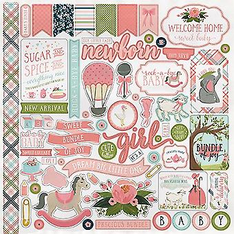 Carta Bella Rock-a-Bye Girl 12x12 Inch Element Sticker