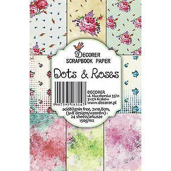 Decorer Dots & Pack papier Roses (7x10.8cm) (M22)