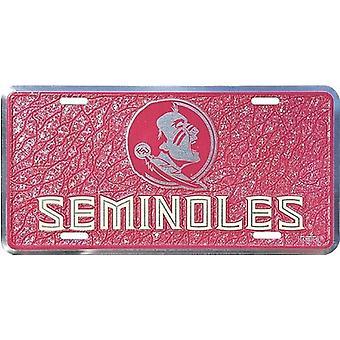 Placa de licencia de mosaico de NCAA de Florida State Seminoles
