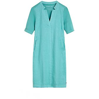 Sandwich Clothing Turquoise Linen Dress