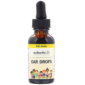 Eclectic Institute, Kids Herbs, Ear Drops, 1 fl oz (30 ml)