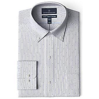 BUTTONED أسفل الرجال & ق الكلاسيكية تناسب زر طوق نمط غير الحديد اللباس قميص, G ...