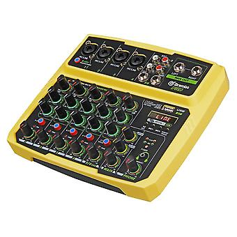 4/6 Kanava Protable Digitaalinen Audio Mixer -konsoli äänikortilla, bluetoothilla, USB: llä,