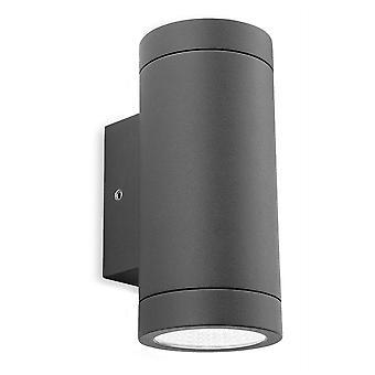 LED 2 Lumière Extérieure Vers le bas Lumière de mur Graphite IP65