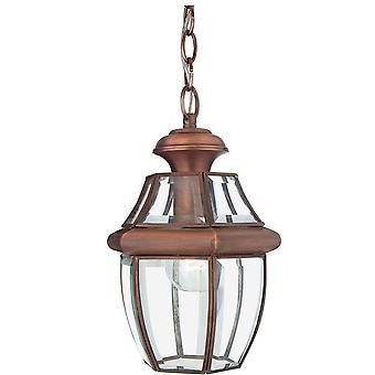1 Lichte Medium Chain Lantern - Aged Copper, E27