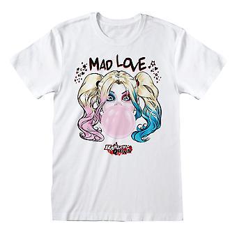 Batman Unisex Adult Mad Love Harley Quinn T-Shirt