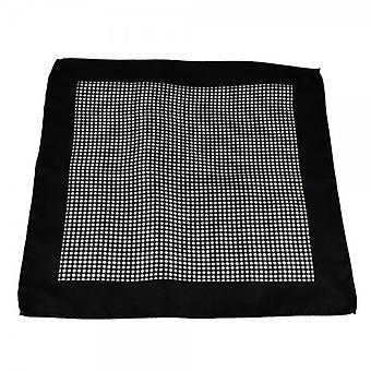 Ties Planet Antonio Boselli Fekete-fehér kockás pocket square zsebkendő