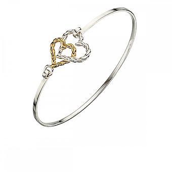 عناصر فضية ذهبية صفراء لوحة حبل القلب B5006