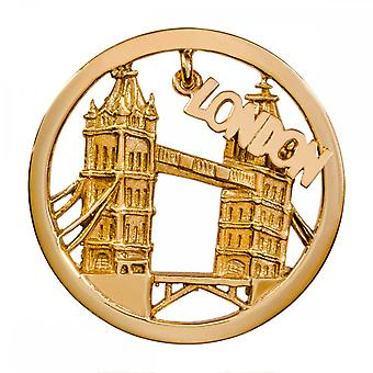 Nikki Lissoni Londres Dangle Medio Oro Plateado Moneda C1382GM