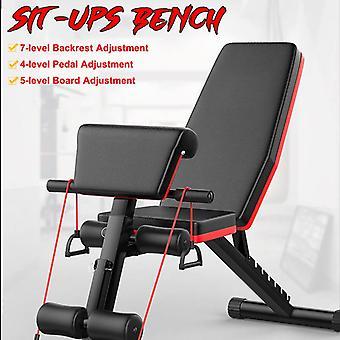 Säädettävä Istu penkki Moniasento Mukava Vakaa Kestävä Monikäyttöinen Teräs Fitness Workout Penkki Liikunta Harjoittelu 3 kokoa valita