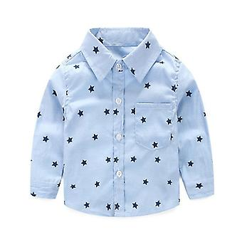 Summer Stars Prints, Casual Long Sleeve Shirts For Infant Baby