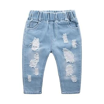 Children Ripped Denim Pants For Teenagers,