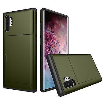 Plånboks fodral för Samsung Galaxy S10(5G) Grön weiluosi-137