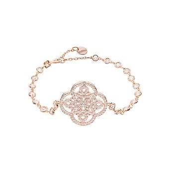 Big Pink Hvid Celtic Knude Kløver Tennis CZ Brude Smykker Rose Guld armbånd