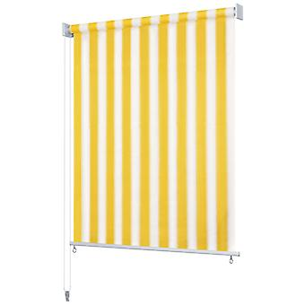 Outer roller blind 240 x 140 cm Yellow and white Striped