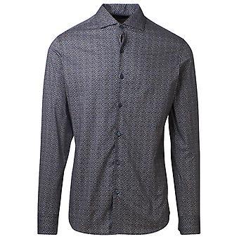Z Zegna 805272zcso172 Men's Blue Cotton Shirt