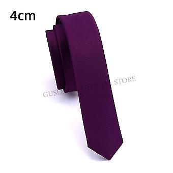 Gusleson Quality Casual Slim Solid Tie Red Yellow Green Handmade Fashion Men