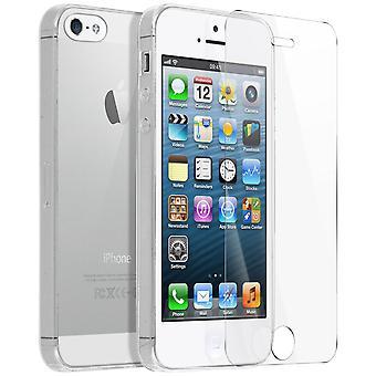 Coque Arrière + Film Verre Trempé Apple iPhone 5, 5s, SE - 4Smarts Transparent