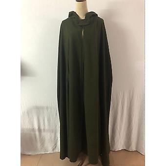 Femme Long Cape Cloak Hooded Wool Blend Coat Sleeveless For Winter