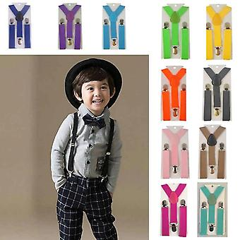 New Belt Clip-on Elastic Braces Stainless Kids Baby Suspenders Party Adjustable