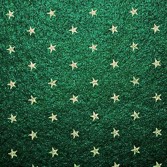 Dolls House Green Gold Star Self Adhesive Carpet Miniature Wall To Wall Flooring