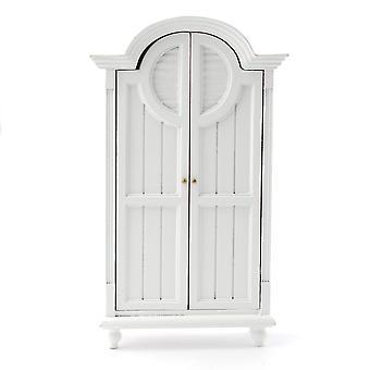 Dolls House Valkoinen Cameo Vaatekaappi Miniatyyri 1:12 Makuuhuoneen huonekalut