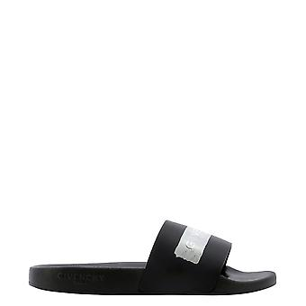 Givenchy Bh300sh0sf008 Heren's Black Rubber Sandals