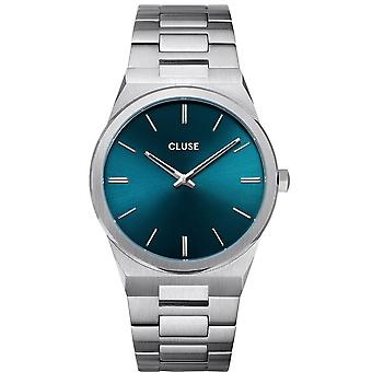 Cluse Cw0101503003 Vigoureux 40 Petrol Blue & Silver Stainless Steel Men's Watch