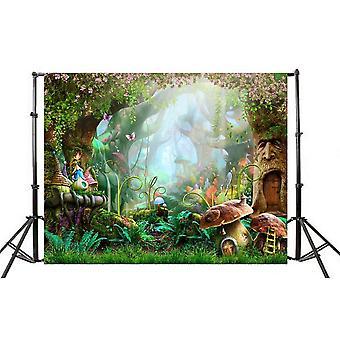Ledmomo wonderland photo background cloth 3d fairyland cartoon studio backdrop wall props 90x150cm (